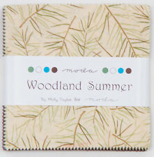 """Moda FABRIC Charm Pack ~ WOODLAND SUMMER ~ by Holly Taylor  - 5"""" squares"""