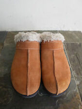 CROCS Rust Suede Clogs With Faux Fur Lining Women's Size 10