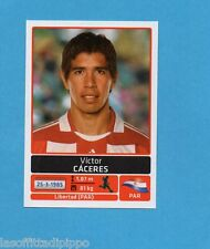 COPA AMERICA 2011 ARGENTINA-Figurina n.150- VICTOR CACERES -PARAGUAY-NEW BLACK