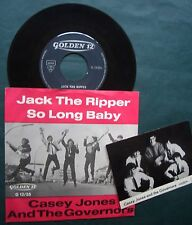 """BEAT 1965 - Casey Jones & The Governors 7"""" & PROMO-CARD Jack The Ripper POWERPOP"""