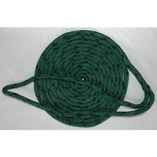 3/8 Inch x 15 Ft Green Double Braid MFP Mooring and Docking Line for Boats