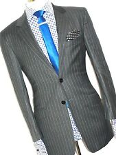 MENS LUXURY PAUL SMITH THE  ABBEY ROAD STRIPEY GREY   SUIT( 44REG W38xL32