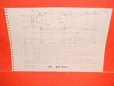 1973 BUICK RIVIERA CENTURY GS LUXUS REGAL COUPE WAGON FRAME DIMENSION CHART