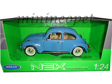 WELLY 22436 VW VOLKSWAGEN BEETLE HARD TOP 1/24 DIECAST MODEL CAR LIGHT BLUE