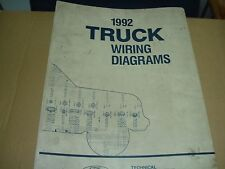 1992 Ford Bronco/F150-F350 F Super Duty Factory Wiring Diagrams Schematics