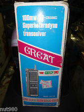 Vintage GREAT Citizens Band Superheterodyne Transceiver Radios GW-128 3-Channel