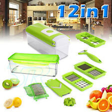 2 x Food Prep Dicer Cube Nicer Chopper Vegetable Fruit Slicer Kitchen Chef Magic