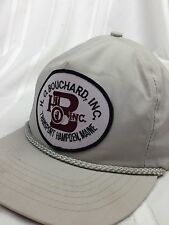 VTG H.O. Bouchard Transport Hampen Maine Truck Patch Hat Cap Strapback Company