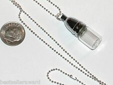 1pc Glass Wish vial pendant tube screw cap fill perfume bullet Bottle Necklace