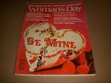 Woman's Day Magazine, February, 1973, Hairdos for Problem Hair, 70's Fashions!