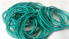 Rubber Bands,Coloured Qty 50,GREEN,1mm Thickness,Strong,1mm Wide,Stretch,Thin