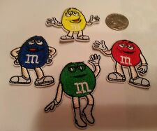 4 - M&M'S  M & M'S Peanuts Mars Candy embroidered Iron  on patch lot  4  patches