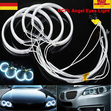4XLED CCFL Angel Eyes Ojos Faro Luces Halo Anillo Blanco For BMW E36 E38 E39 E46
