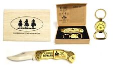 """""""Jaccy James"""" Legends of The Wild West Folding Knife with Keyring Bottle Open"""