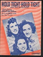 Hold Tight Hold Tight 1939 Andrews Sisters