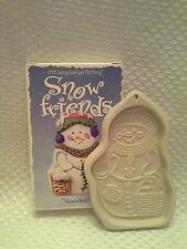 Longaberger Pottery Snowball 1999 Snow Friends Cookie Mold Series Collectible