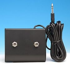 "FOOTSWITCH FOR AMPEG 1/4"" TWO BUTTONS GUITAR & BASS AMPLIFIERS AMPS SVT & OTHERS"