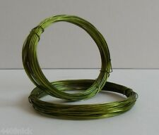 0.6 mm (22 gauge) OLIVE GREEN COPPER  CRAFT/JEWELLERY WIRE 10 metres