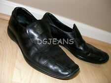 PRADA MEN BLACK COLOR SLIP-ON LEATHER LOAFER SHOES 7.5 US 8.5 MADE IN ITALY