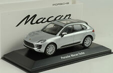 2015 Porsche Macan Turbo silver silber 1:43 Welly Museum MAP