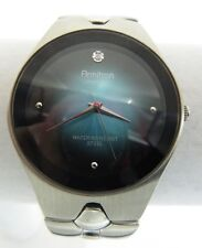 Mens ARMITRON Watch Crystal Accent Aqua Face Adjustable Silver Band 20/1789F