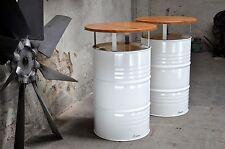 Stehtisch Bistrotisch aus 200l Neu Fass Pulverbeschichtet Ölfass Tischplatte 70
