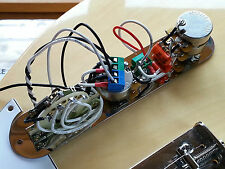 Custom built Fender Telecaster Tele 5 way TBX control plate upgrade wiring kit