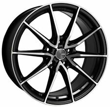 18x8 Enkei Rims DRACO 5x114.3 +45 Black Wheels (Set of 4)