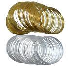 Memory Wire 60 Coils Steel Bracelet Jewellery Findings SILVER GOLD 55 x 0.5mm