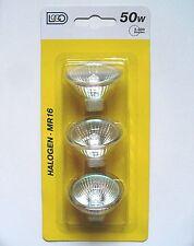 3 Stück HalogenStrahler 50 Watt / G5.3 GU5.3 MR16 50mm Lampen Birne Leuchtmittel