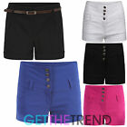 Womens Miss Sexies Designer Girls Black White Shorts High Waisted Hotpants Pants