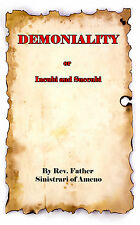 Demoniality Incubi and Succubi Father Sinistrari Inquisition Book Witch Devil