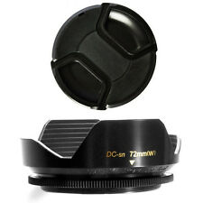 72mm Wide Lens Hood and Lens Cap for Sony DSC-HX1, HDR FX1,HDR-FX1000,HVR-Z5 Z5U
