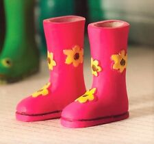 1:12 Scale Flower Power Wellies  Doll House Miniatures Garden
