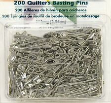 Quilters Basting Safety Pins Nickel Plated Pack of 200