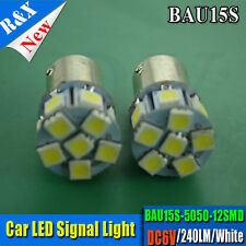 1x 6V 1156/1157/ba15d/bau15s 12 SMD LED Car Light Brake/Turn/Tail /Reverse Bulb
