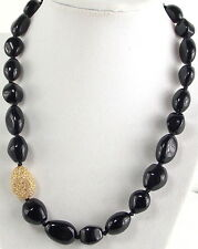 Nolan Miller Pave' Bead Grand Stand Necklace in Black Knotted Between Beads NICE