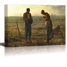 """The Angelus by Jean-Francois Millet - Canvas Print Wall Art - 12"""" x 18"""""""