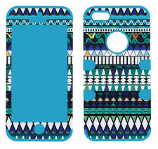 Hybrid Tuff Aztec Tribal Blue/Purple for Apple Iphone 5 Case Cover