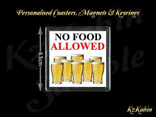 Pints of Beer No Food Allowed Novelty Fridge Magnet Novelty Xmas Gift