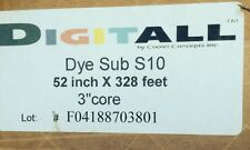 "Dye Sublimation Heat Transfer Digitall Paper  -  52""x328' Roll 3"" Core"