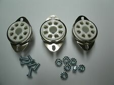 CERAMIC tube sockets OCTAL 8 pin, TOP MOUNT, Fender replacement, W/hardware 3pcs