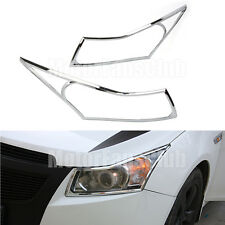 Chrome Rear Headlight Faro Lampada Cover Trim For Chevrolet Cruze 2009 - 2015