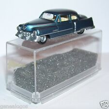 MICRO PRALINE HO 1/87 CADILLAC 54 CADDY LIMOUSINE BLEU FONCE METAL IN BOX
