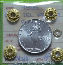 CITTA' DEL VATICANO PIO XII 10 LIRE 1955 SIGILLATA FDC SUBALPINA