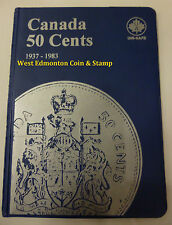 CANADIAN 50-CENT UNI-SAFE BLUE COIN FOLDER PROTECTOR - 4 PAGES 1937-1983
