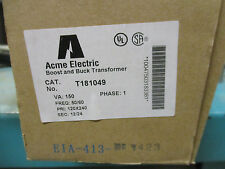 Acme T181049, .150 KVA 120/240x12/24 Volt Buck Boost Transformer- T1233- NEW