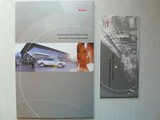 Prospetto AUDI-nuove automobili ritiro a mano nel forum Ingolstadt, 5.2001, 38 + 24 pag.
