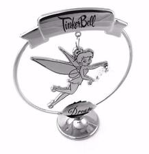 "DISNEY TINKERBELL ORNAMENT ""DREAM"" CHROME PLATED FREE STANDING BOXED DI265"