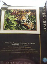Leopard in Repose Counted Cross Stitch Kit, Dimensions, Gold Collection,